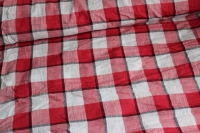 Viscose Squares Red & White