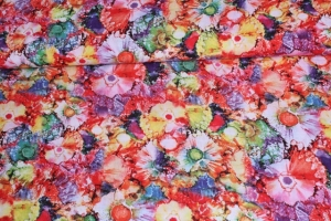 Viscose Flowers Multicolor