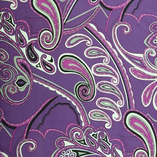 Viskosegemisch - Ornamente- Lila