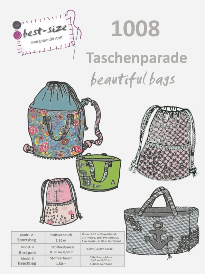 best-size Schnittmuster - Taschenparade - beautiful bags