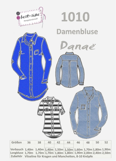 best-size Schnittmuster - Damenbluse - Danae