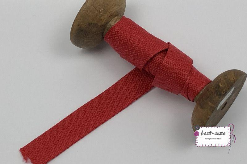 Rolle mit  30mm Gurtband in rot