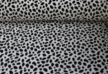 Wellnessfleece `Animal Print´ Weiß