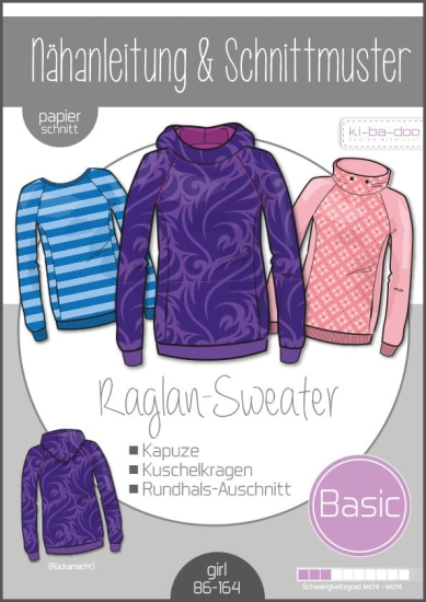 ki-ba-doo Basic Raglan Sweater Kinder Gr.86-164