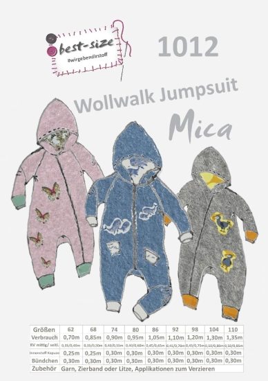 best-size Schnittmuster - Wollwalk Jumpsuit - Mica