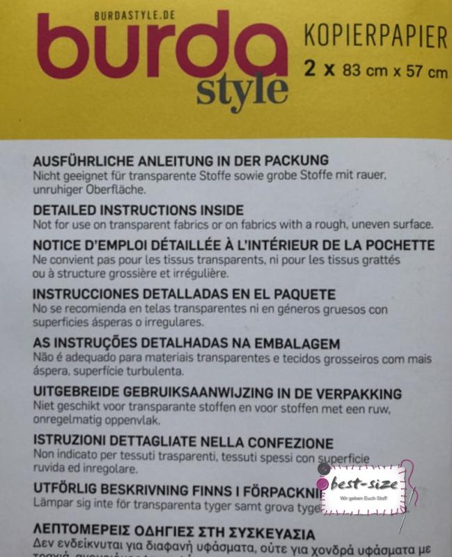 Burda Kopierpapier weiss//gelb